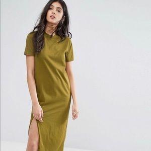 ASOS TALL Ultimate T-Shirt Midi Dress w/Side Split